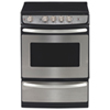 "GE 24.3"" 3.0 Cu. Ft. Slide-In Easy-Clean Smooth Top Range (JCAS445SVSS) - Stainless Steel"