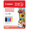 Canon PGI-250 Black / CLI-251 CMY Ink Club Pack - 4 Pack