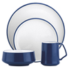 Service de table de la collection Kobenstyle de Dansk - 4 pièces - Bleu-blanc