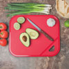 """Final Touch 12"""" x 14"""" Cutting Board - Red"""