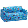 Comfy Kids - Polyester Kids Flip Sofa - Blue Swirls