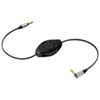 ReTrak 1.8m (6 ft.) 3.5mm Auxiliary Retractable Cable (ETPRAUX) - Black