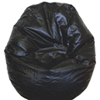 Modern Vinyl Bean Bag Chair - Black (96060-009)