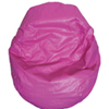 Modern Vinyl Bean Bag Chair - Pink (96060-062)
