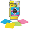 Post-It Notes Super Sticky Full Adhesive - 4 Pack - Assorted Colours