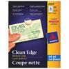 Cartes professionnelles Clean Edge d'Avery (AVE38876) - Paquet de 200 - Ivoire