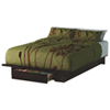 Holland Contemporary Platform Bed - Mocha