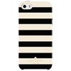 Étui rigide ajusté Candy Stripe de Kate Spade New York pour iPhone 5/5s/SE - Crème - Noir