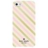 Étui rigide ajusté Diagonal Stripe de Kate Spade New York pour iPhone 5/5s/SE - Doré-Crème-Rose pâle
