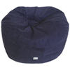Contemporary Faux Suede Bean Bag Chair - Navy