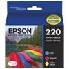 Cartouche d'encre couleur DURABrite Ultra T220 d'Epson (T220520-S) - Paquet de 3