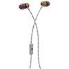 House of Marley Smile Jamaica In-Ear Sound Isolating Headphones with Mic (EM-JE041-PU) - Tan/Purple
