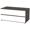 "Nexera Allure TV Stand for TVs Up To 36"" - Ebony/White"