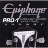Cordes ultra-légères pour guitare acoustique Pro-1 d'Epiphone