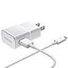 Samsung 0.75m (2.4 ft.) Adaptive Fast Charging MicroUSB Wall Charger (EP-TA20JWEUGCA) - White