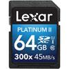 Carte SDHC/SDXC Platinum II classe 10 de 64 Go de Lexar