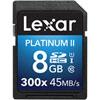 Carte SDHC/SDXC Platinum II classe 10 de 8 Go de Lexar