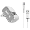 Kanex 1.22 m (4 ft.) MiColor USB Wall Charger + Lightning Cable (KWCU24V2KT8P) - White
