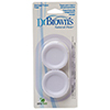 Dr. Brown's Natural Flow Wide Neck Baby Bottle Storage/Travel Caps - 2 Pack - White