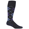 Sockwell Argyle Wool Blend Therapeutic Compression Socks - Large/X-Large - Navy