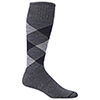 Sockwell Argyle Wool Blend Therapeutic Compression Socks - Medium/Large - Charcoal