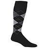 Sockwell Argyle Wool Blend Therapeutic Compression Socks - Medium/Large - Black