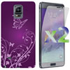 Exian Galaxy Note 4 Butterfly Case With Screen Protectors - Purpl