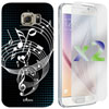 Exian Galaxy S6 Musical Notes Case With Screen Protectors - Black