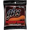 GHS Phosphor Bronze 0.011 - 0.05 Extra Light Gauge Acoustic Guitar Strings (S315) - Bronze