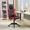 Dale Bonded Faux Leather Task Chair - Black/Red