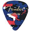 Médiators moyens 351 en celluloïd de Fender pour guitare - Paquet de 12 - Confetti