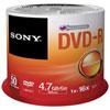 Disques DVD-R 16x de 4,7 Go de Sony - Paquet de 50