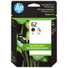 HP 62 Colour/Black Ink - 2 Pack
