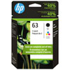 HP 63 Colour/Black Ink - 2 Pack