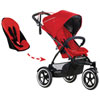 phil&teds Sport Inline Stroller - Second Seat Included - Cherry