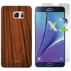 Exian Galaxy Note 5 Fitted Soft Shell Case with Screen Protectors - Brown