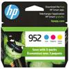 HP 952 CMY Ink 3 Pack (N9K27AN#140)