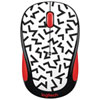Logitech Party M325 Wireless Optical Mouse - Zigzag Red