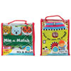 Melissa & Doug Kids Cloth Book: Mix and Match & Have You Seen My Puppy?