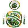 The First Years John Deere 4-Piece Dish Set - Green/Yellow