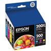 Encre CMJN 200 d'Epson (T200XL-BCS) - Paquet de 4
