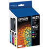 Epson 252 CMYK Ink (T252XL-BCS) - 4 Pack