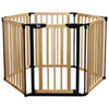 Bily Freestanding Wood Superyard - Natural Wood/Black