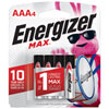 Paquet de 4 piles AAA 1,5 V d'Energizer