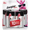 Paquet de 4 piles «D» 1,5 V d'Energizer