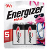 "Energizer ""9V"" 2-Pack Batteries"