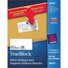 Étiquettes d'adresse 2 x 4 po TrueBlock d'Avery - Paquet de 250 - Blanc