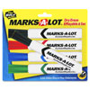 Avery Marks-A-Lot Dry Erase Board Marker - 4 Pack - Assorted