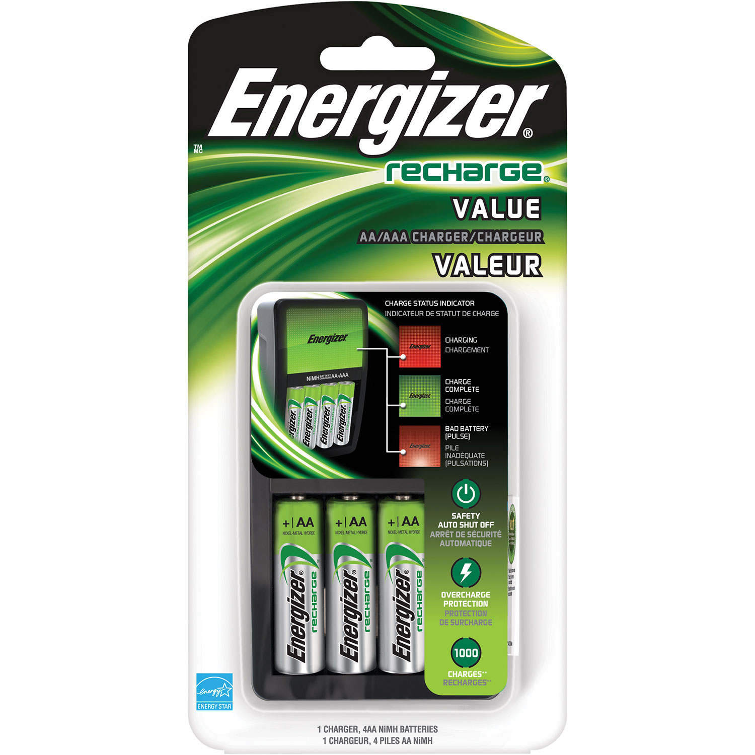 energizer maxi charger with 4 aa ni mh rechargeable batteries rh bestbuy ca