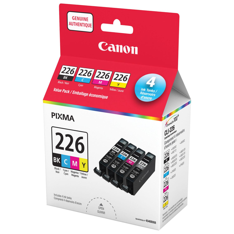 Canon Pixma Cli 226 Cmyk Ink 4 Pack For Best Buy Canada Tinta Black Noir 1 Liter